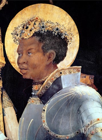 St. Maurice (Detail) Stretched Canvas Print