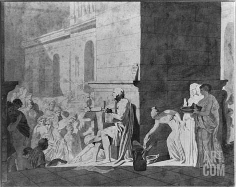 Homer Reciting His Poems, 1794 Stretched Canvas Print