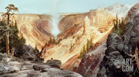 The Grand Canyon of the Yellowstone, 1872 Stretched Canvas Print