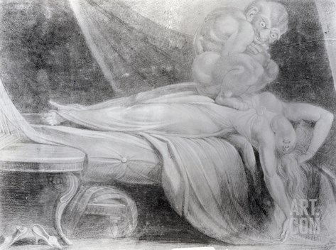 The Nightmare, 1781 (Chalk on Paper) Stretched Canvas Print