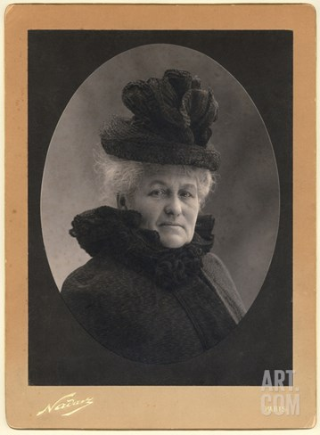 Alice Monet (1844-1911) 1899 (Silver Print) (B/W Photo) Stretched Canvas Print