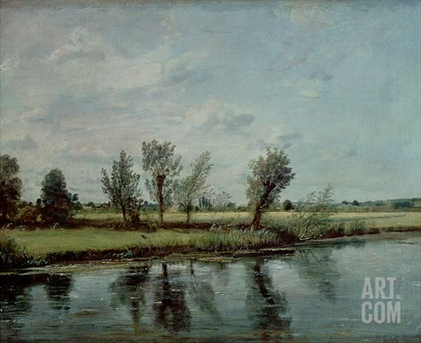 Water Meadows Near Salisbury, c.1820 Stretched Canvas Print