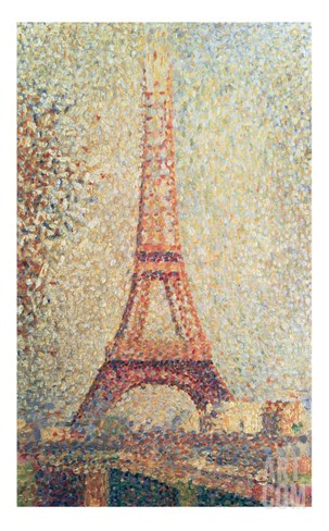 The Eiffel Tower, 1889 (Panel) Stretched Canvas Print