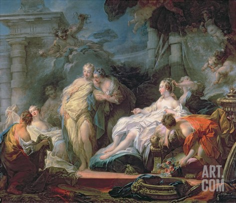 Psyche Showing Her Sisters Her Gifts from Cupid, 1753 Stretched Canvas Print