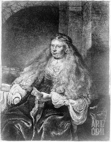 The Great Jewish Bride, 1635 (Etching) Stretched Canvas Print