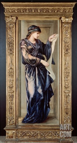 The Cumaean Sibyl, 1877 (Oil on Panel) Stretched Canvas Print