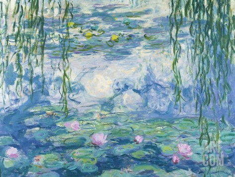 Waterlilies, 1916-19 Stretched Canvas Print