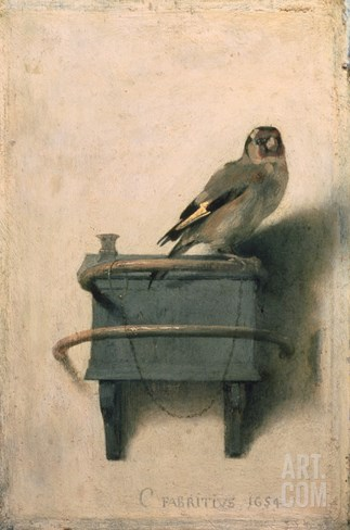 The Goldfinch, 1654 Stretched Canvas Print