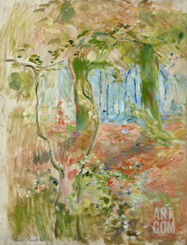 Undergrowth in Autumn, 1894 Stretched Canvas Print