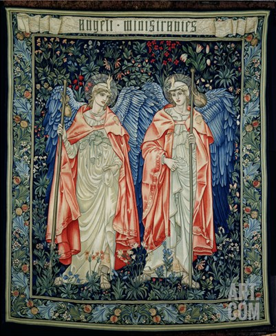 Angeli Ministrantes, 1894 (Tapestry) Stretched Canvas Print