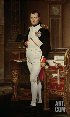 Napoleon Bonaparte (1769-1821) in His Study, 1812 Stretched Canvas Print