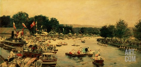 Henley Regatta, C.1877 Stretched Canvas Print