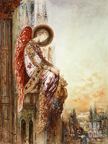 Angel Traveller (W/C) Stretched Canvas Print
