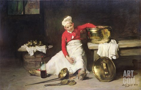 Kitchen-Boy, 1893 Stretched Canvas Print