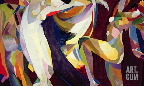 Dances, 1914/15 Stretched Canvas Print