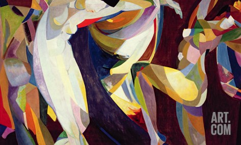 Dances, 1914/15 (Oil on Canvas) Stretched Canvas Print