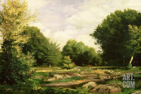 Clearing in the Woods, 1865 (Oil on Canvas) Stretched Canvas Print