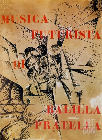 Design for the Cover of 'Musica Futurista' by Francesco Balilla Pratella (1880-1955), 1912 Stretched Canvas Print