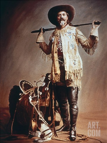 Buffalo Bill Cody (1846-1917) (Photo) Stretched Canvas Print