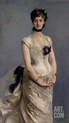 Madame Paul Poirson, 1885 (Oil on Canvas) Stretched Canvas Print