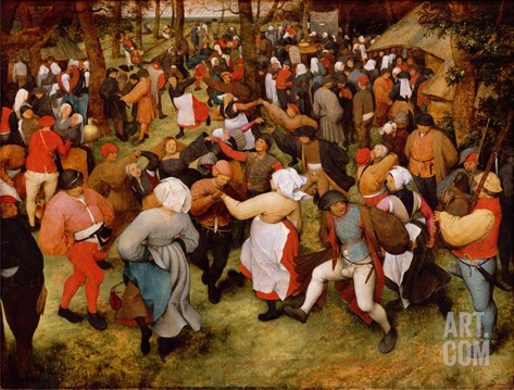 The Wedding Dance, C.1566 (Oil on Panel) Stretched Canvas Print