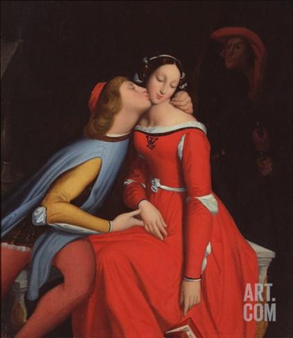 Francesca Da Rimini and Paolo Malatesta, 1819 Stretched Canvas Print