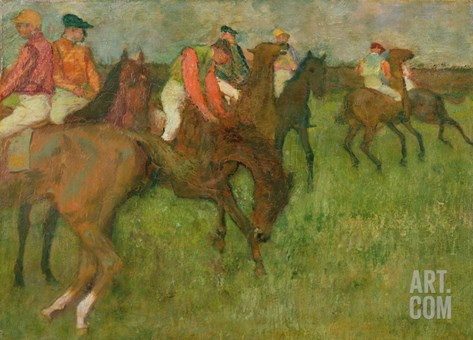 Jockeys, 1886-90 Stretched Canvas Print
