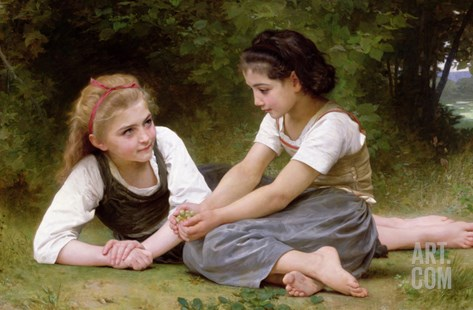 The Nut Gatherers, 1882 (Oil on Canvas) Stretched Canvas Print