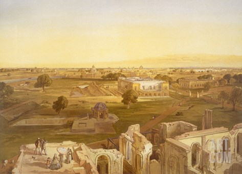 Lucknow, from 'India Ancient and Modern', 1867 (Colour Litho) Stretched Canvas Print