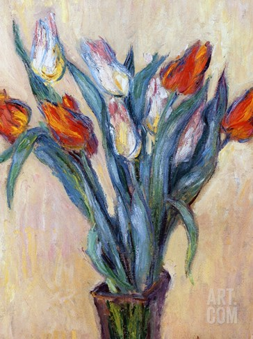 Tulips, 1885 (Oil on Canvas) Stretched Canvas Print