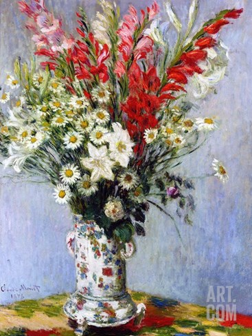 Vase of Flowers, 1878 Stretched Canvas Print