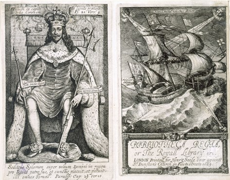 Frontispiece and Title Page to 'Bibliotheca Regia, or the Royal Library', 1659 Stretched Canvas Print