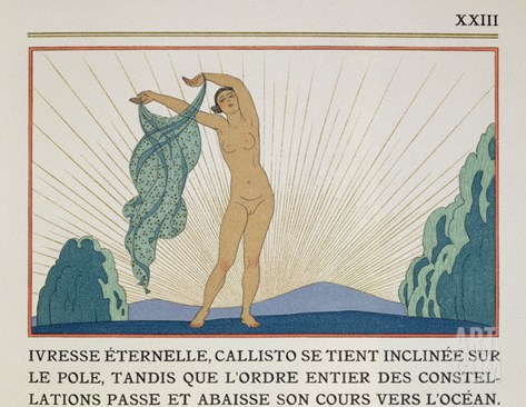Woman Dancing, Illustration from 'Les Mythes' by Paul Valery (1871-1945) Published 1923 Stretched Canvas Print