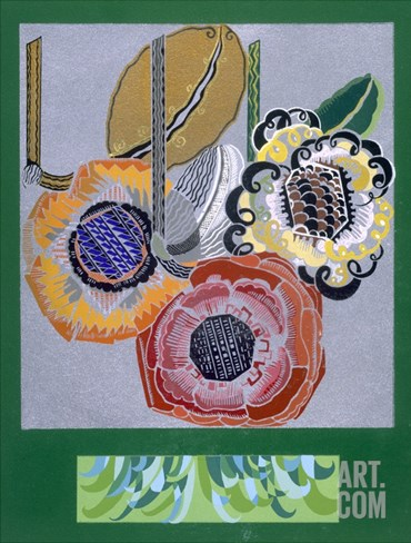Designs from 'Relais', C.1920S-1930 (Colour Litho) Stretched Canvas Print