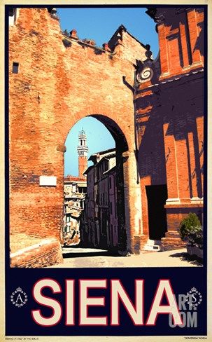 Tower in Siena Italy 1 Stretched Canvas Print