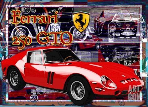 Ferrari 250 Gto Stretched Canvas Print