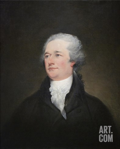 Alexander Hamilton Stretched Canvas Print