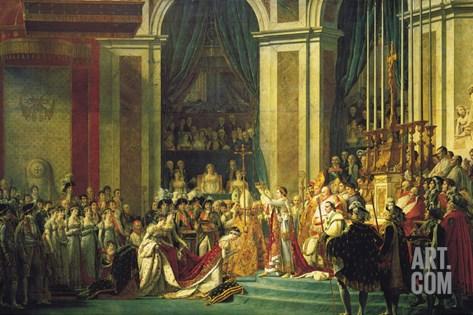 Coronation of Napoleon Bonaparte Stretched Canvas Print