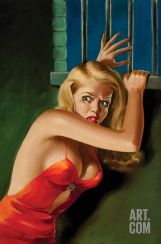 The Prisoner - Pulp Cover Stretched Canvas Print