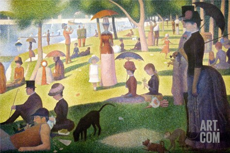 Sunday Afternoon on the Island of La Grand Jatte Stretched Canvas Print