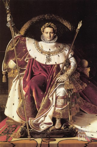 Napoleon I on His Imperial Throne Stretched Canvas Print