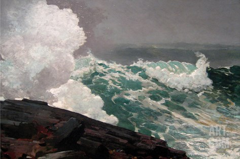 Northeaster Stretched Canvas Print