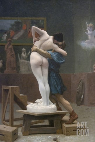 Pygmalion and Galatea Stretched Canvas Print