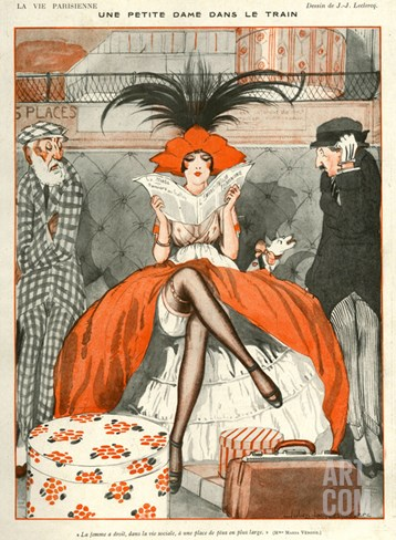 La Vie Parisienne, Julien Jacques Leclerc, 1920, France Stretched Canvas Print