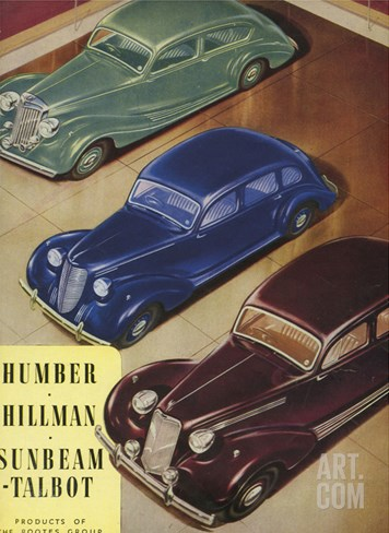 Humber, Hillman, Sunbeam-Talbot, UK Stretched Canvas Print