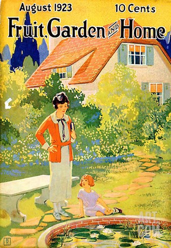 Fruit Garden and Home, 1923, USA Stretched Canvas Print