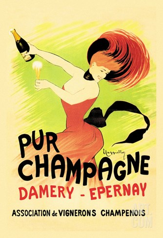 Pur Champagne Stretched Canvas Print
