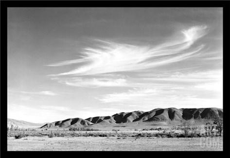 Landscape at Manzanar Stretched Canvas Print