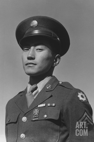 Corporal Jimmy Shohara Stretched Canvas Print
