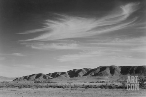 View South from Manzanar to Alabama Hills Stretched Canvas Print